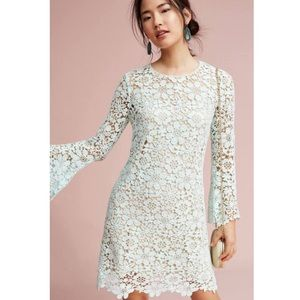 Anthro Shoshanna Moira Mint Lace Dress